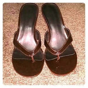 Rampage brown sandals